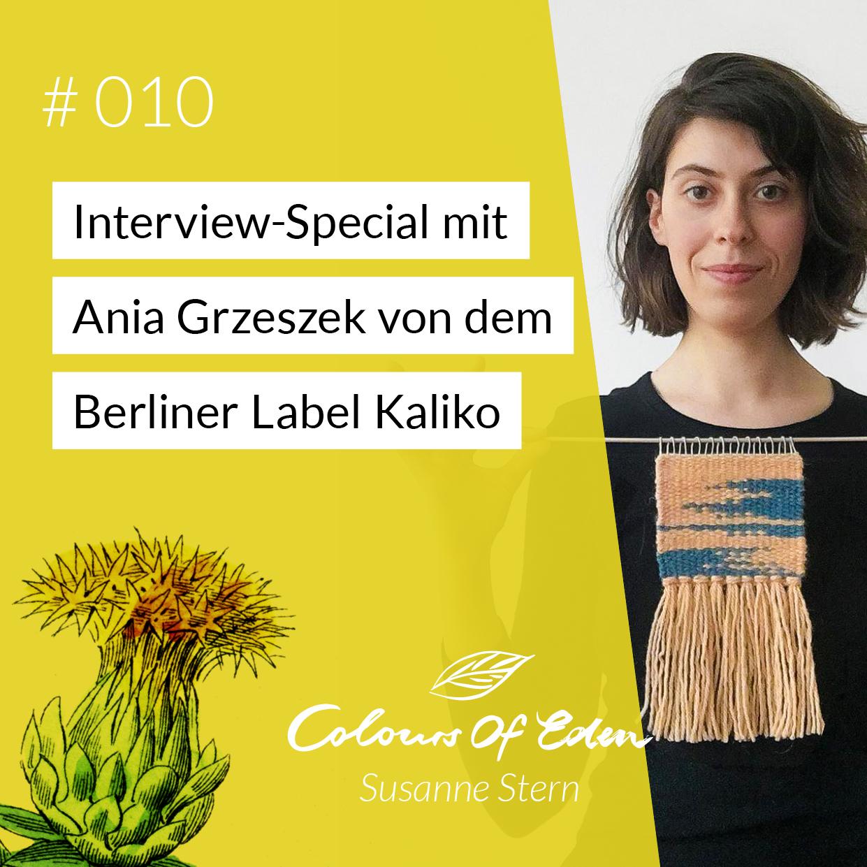 Susanne Stern Interview Ania Grzeszek von Kaliko, natural Dye, Podcast Colours of eden